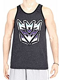 Transformers Vintage Distressed Decepticons Logo Charcoal Black Tank Top