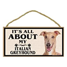Imagine This Wood Breed Sign, It's All About My Italian Greyhound