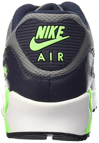 Nike Air Max 90 Mesh (GS) Zapatillas de running, Niños Gris / Verde (Cl Grey / Vltg Grn-Obsdn-Lcd Grn)