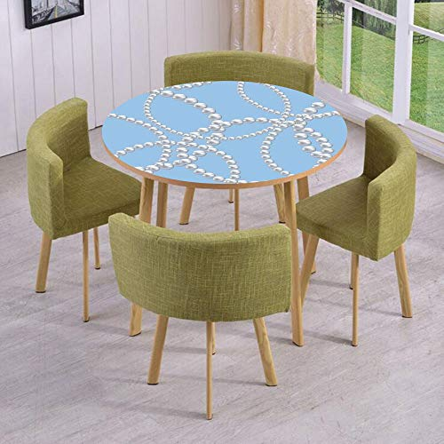(iPrint Round Table/Wall/Floor Decal Strikers,Removable,Pearl Necklace Bracelet Classic Women Bridal Groom Shower Theme Feminine Art Decorative,for Living Room,Kitchens,Office Decoration)