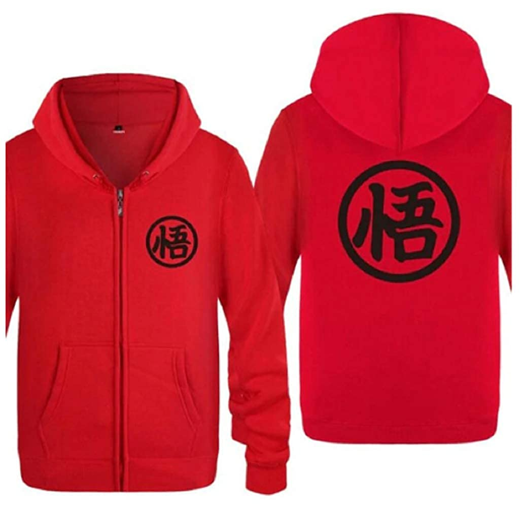 Tresbon Products Dragon Ball Z Anime Goku Vegeta Hoodie Medium, Red and Black Men Women Girls Boys