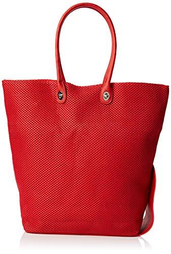 Caco S.r.l. One, Borsa a Spalla Donna, Rosso, 43 x 60 x 10 cm (W x H x L)