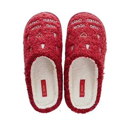 Letto Pantofole In Donna Rossa Antiscivolo Da Invernali Impermeabili Stile Camera Natalizio Caldi Comodi wPpwqB