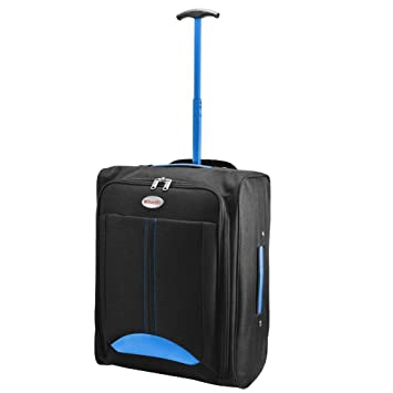 d4de8f88f CABIN TRAVEL BAG WHEELED LIGHTWEIGHT SUITCASE HAND LUGGAGE TROLLEY HOLDALL  NEW FUSION(TM) (Blue): Amazon.co.uk: Luggage