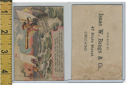 Victorian Card, 1890's, Agate Iron Ware, IW Bangs, Chicago, China, Ship, ()