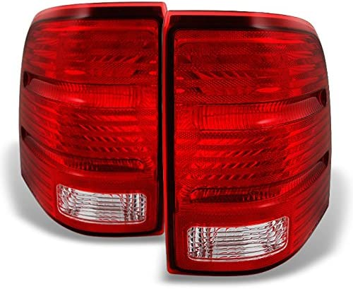 For Ford Explorer Red Clear Lens Rear Tail Light Taillamps Brake Lamps Passenger/Right Side Replacement