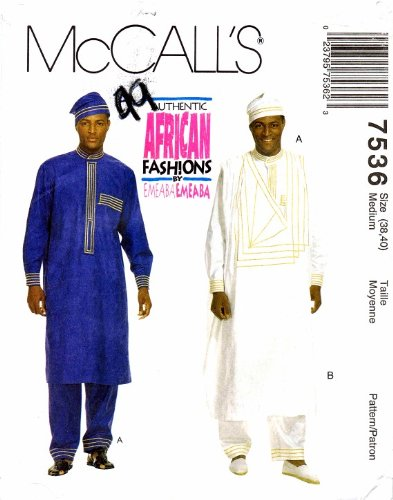 McCall\'s 7536 Sewing Pattern African Fashion Mens Tunics Pants Hat ...