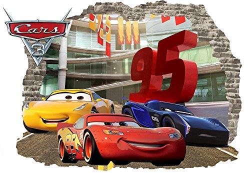 INFANS Wall Kids Stickers Car 3D Decal Decor Disney Cars Room Crafts Teacher Lot Birthday Vinyl Sticker Mural McQueen Size 57cm X 80cm