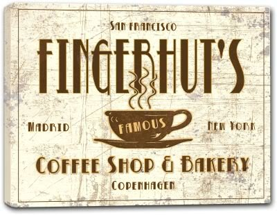 Fingerhuts Coffee Shop   Bakery Stretched Canvas Print 24  X 30