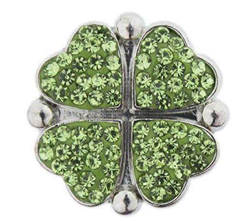 Chunk Bling - Body Accentz Snap Button Four Leaf clover18mm Cabochon Chunk Charm