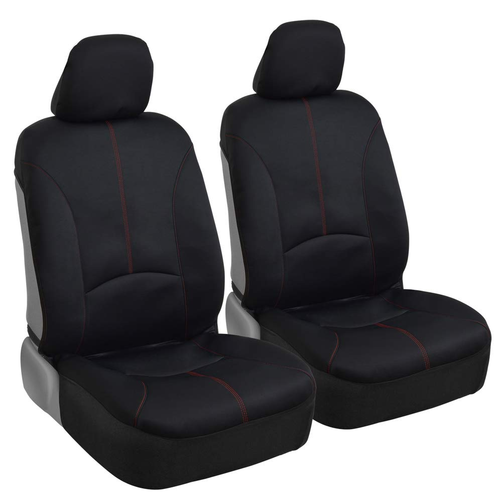 Gray and Black 2 PC Airbag Armrest Compatible for Car SUV Truck Universal Bucket Seat Cover Elantrip Car Seat Covers Waterproof Front Seats Only