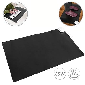 PrimeMatik - Alfombra y Superficie térmico con calefacción para Escritorio Suelo y pies de 60 x 36 cm 85W Negro: Amazon.es: Electrónica