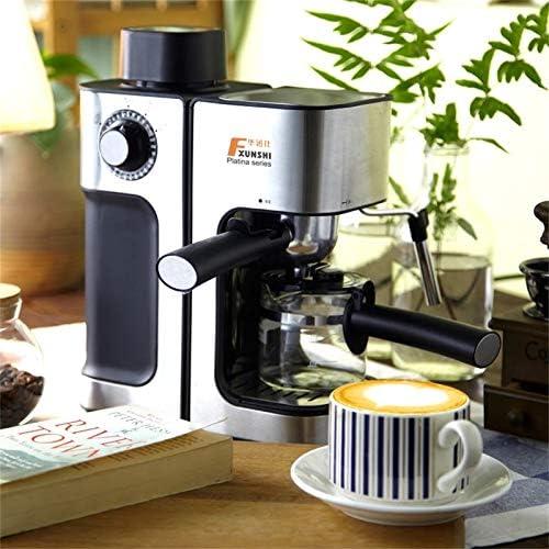 LIUSU-Walker Machine À Café Machine À Expresso, Machine À Café en Acier Inoxydable Haute Performance 850W Commande À Une Touche, Buse À Vapeur, Acier Inoxydable, Argent