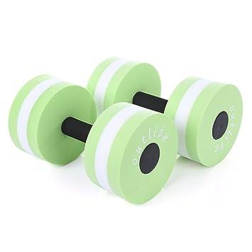 Tini Regner 2 mancuernas para piscina de fitness, ejercicio EVA, acuáticas, para natación, entrenamiento, piscinas de agua, verde: Amazon.es: Deportes y ...