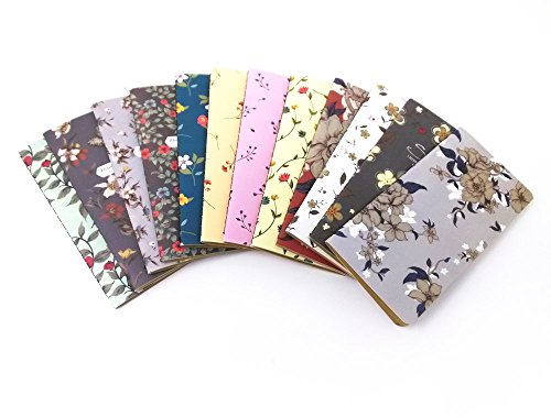 Honbay 12pcs Mix Color Floral Style Pocket Notebook Mini Diary Journal by Honbay