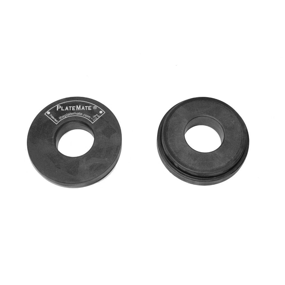PlateMate Microload Pair 2 1/2 lb. Magnetic Donut Weights