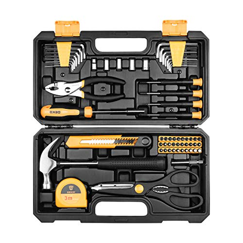 Precision Knife Piece 13 (DEKOPRO 62 Piece Tool Set General Household Hand Tool Kit with Plastic ToolBox Storage Case)