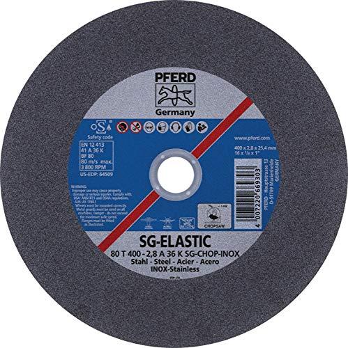PFERD 64509 16'' x 1/8'' Chop Saw Wheel, 1'' AH A 36 K SG-CHOP INOX (10pk)