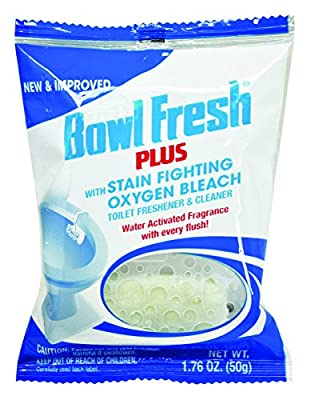 Bowl Fresh Plus 310.48T Toilet Bowl Deodorizer and Cleaner, 1.76 oz , Off-White Large Tablet