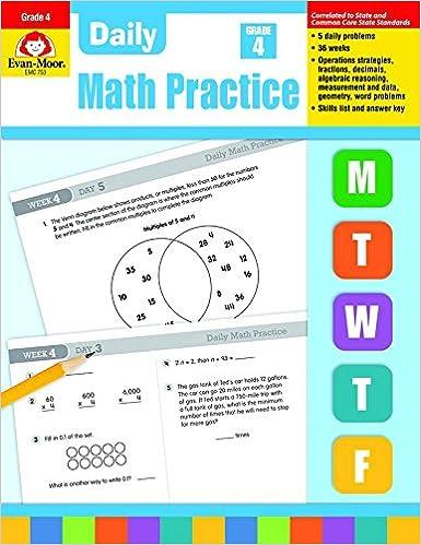 Daily Math Practice, Grade 4: Evan Moor: 8580001048512: Amazon.com ...