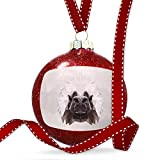 Christmas Decoration Low Poly zoo Animals Cottontop Tamarin Ornament