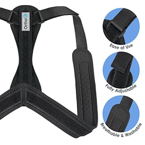 Ortho+ Adjustable Posture Corrector – Shoulder Strap for Men and Women...