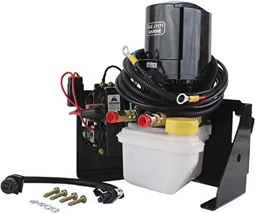 Rareelectrical NEW 12V TILT TRIM MOTOR AND RESERVOIR COMPATIBLE WITH MERCURY MARINE APPLICATIONS 865380A25