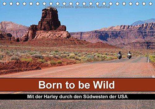 Born to be Wild - Mit der Harley durch den Südwesten der USA (Tischkalender 2015 DIN A5 quer): Die landschaftlichen Highlights des amerikanischen einer Harley (Monatskalender, 14 Seiten)