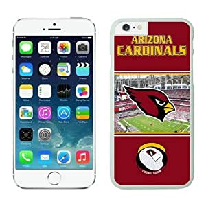 NFL&Arizona Cardinals iphone 6 Cases White 4.7 inches cell phone cases&Gift Holiday&Christmas Gifts PHNK626052