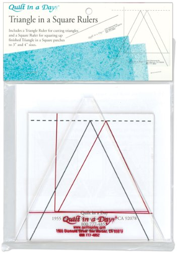 Crafter's Companion Quilt in a Day, Triangle in a Square Ruler, Set of 2 (Quilt Set Ruler)
