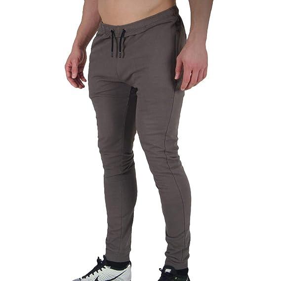 Hibote Hombres Slim Fit Algodón Pantalones de chándal Valor ...