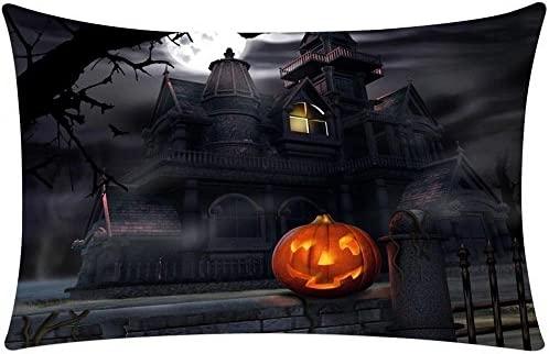 DEELIN 1 pc Happy Halloween 3D Impresora Rectángulo Lino ...