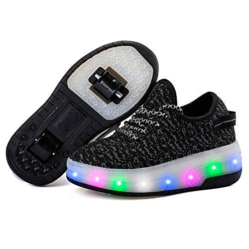 edv0d2v266 LED Light Up Roller Skate Shoes Double