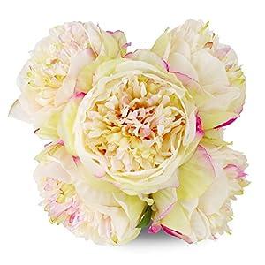 StarLifey Fake Peony Bouquet Silk Peonies Wedding Centerpiece Decoration Spring Simulation Flowers 60