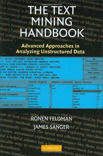 The Text Mining Handbook: Advanced Approaches in Analyzing Unstructured Data [Ronen Feldman - James Sanger] (Tapa Dura)
