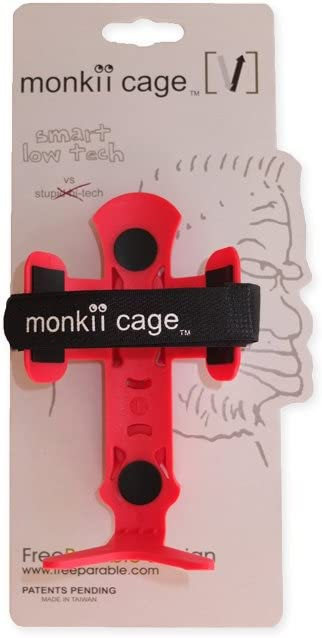 White Bicycle Bottle Cage Pink. Black Free Parable monkii V cage