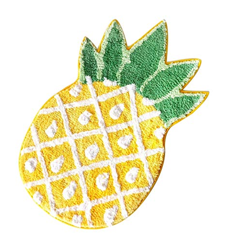 Pineapple Door Mat, Non-Slip Area Rug Home Decor,Pineapple Welcome Rug,for Living Room Bedroom Bathroom Rug, Mashine Washable Carpets,39.5