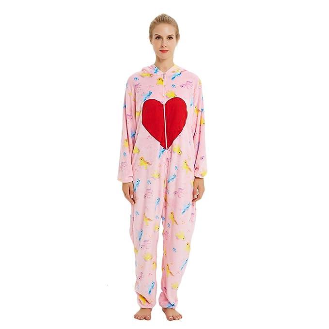 Rainbow Unicorn Unisex Adultos Pijamas de Cosplay de Dinosaurio Animales Trajes de Franela Trajes de Fiesta de Halloween Carnaval Novedad Traje de ...