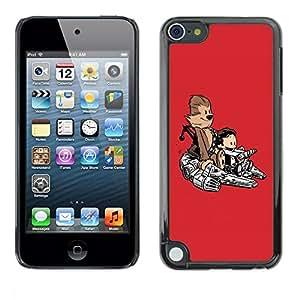 Be Good Phone Accessory // Dura Cáscara cubierta Protectora Caso Carcasa Funda de Protección para Apple iPod Touch 5 // Funny Cute Monkey Space Ship