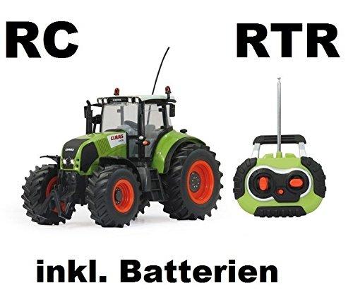 RC ferngesteuerter Traktor Claas Axion 850 Maßstab 1:16 passend zu den Bruder Anhänger - NEUHEIT inkl. allen Batterien RTR (ready-to-run) Sofort Spielbereit - LIZENZ NACHBAU in bester Qualität