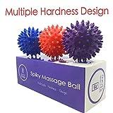Acupressure Balls - Radical Health Store-Foot Massage Ball Set - Spiky Massager Balls for Deep Tissue, Trigger Point, Feet, Back, Hand, Muscles, Myofascial, Plantar Fasciitis That Massages Away (Red)