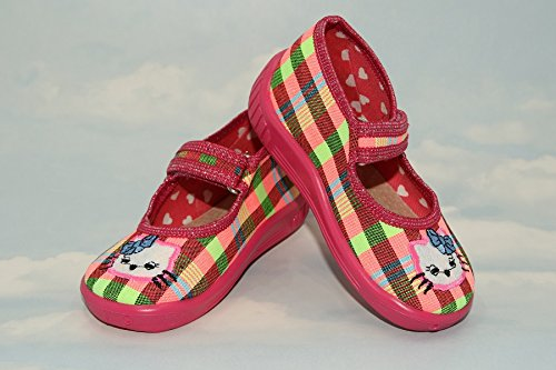 Zapatillas, Niños, Niñas, Velcro, Snap, cordones zapatos, multicolor, Lovely colores, countured plantilla, reforzada con, materiales naturales, antideslizante, UK tamaño 2, 3, 4, 5, 6, 7 Rainbow gato