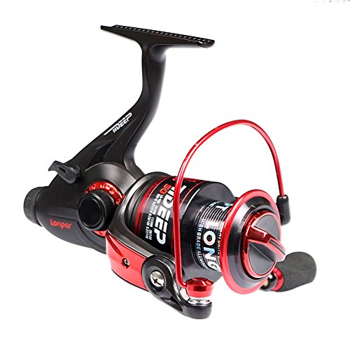 LONPAR Tideep Baitrunner Spinning Fishing Reel 8BB+1RB Front and Rear Double Drag System Two Spools Included Saltwater or Freshwater