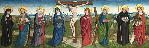 'the Master Of Liesborn The Crucifixion With Saints ' Oil Painting, 8 X 25 Inch / 20 X 63 Cm ,printed On Polyster Canvas ,this Best Price Art Decorative Prints On Canvas Is Perfectly Suitalbe For Gym Decor And Home (Hamilton 12