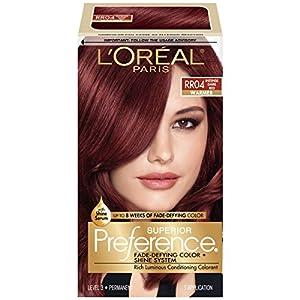 12. L'Oréal Paris Superior Preference Permanent Hair Color, RR-04 Intense Dark Red