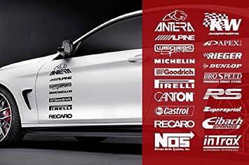5stk Tuner Logo Autoaufkleber Sponsoren Marken Aufkleber Bis 20cm Lang Decals Tuning Sticker