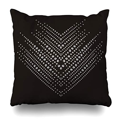 - Ahawoso Decorative Throw Pillow Cover Brooch Brilliant Stones Arrow Zigzag Pattern Necklaces Christmas for Bracelets Jewelry Crystal Home Decor Zippered Square Size 20