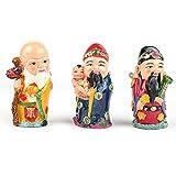 3 DIEUX DU BONHEUR - Les Figurines Fuk Luk Sau