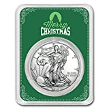#4: 2017 1 oz Silver American Eagle - Merry Christmas Green 1 OZ Brilliant Uncirculated