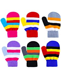 6 Pairs Toddler Magic Gloves Warm Winter Stretch Mittens...